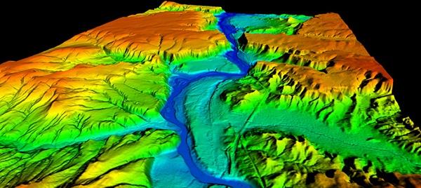 無人機收集的數據協助製作雪山的高度模擬圖。
