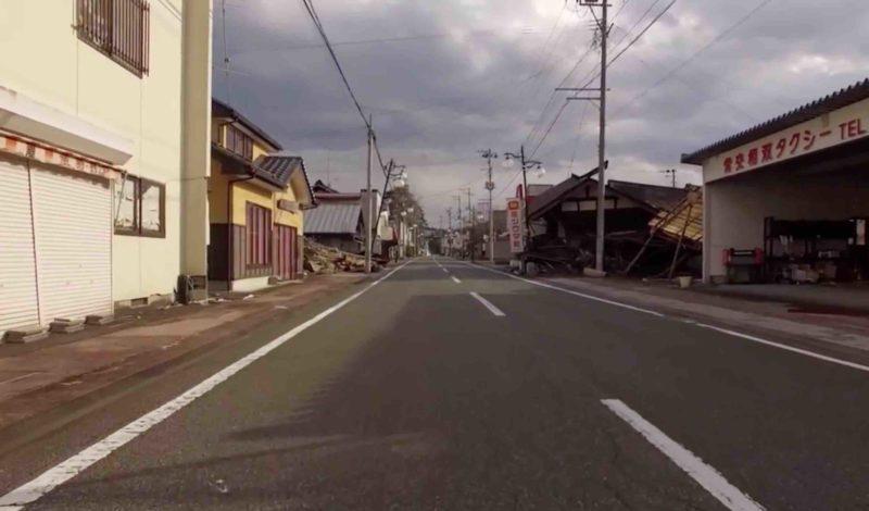 福島街頭人影渺渺,猶如鬼域。