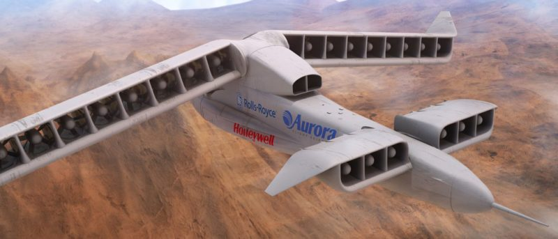 LightingStrike 無人機以定翼模式飛行時的模樣。(圖片來源:DARPA)