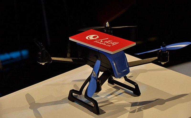 發布會現場展示其中一款人民網新聞採訪無人機。看來零度智控自 Xiro Xplorer 系列後,產品設計風格已作 180 度轉變。