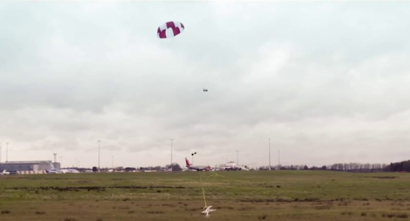 SkyWall100 砲彈自帶降落傘
