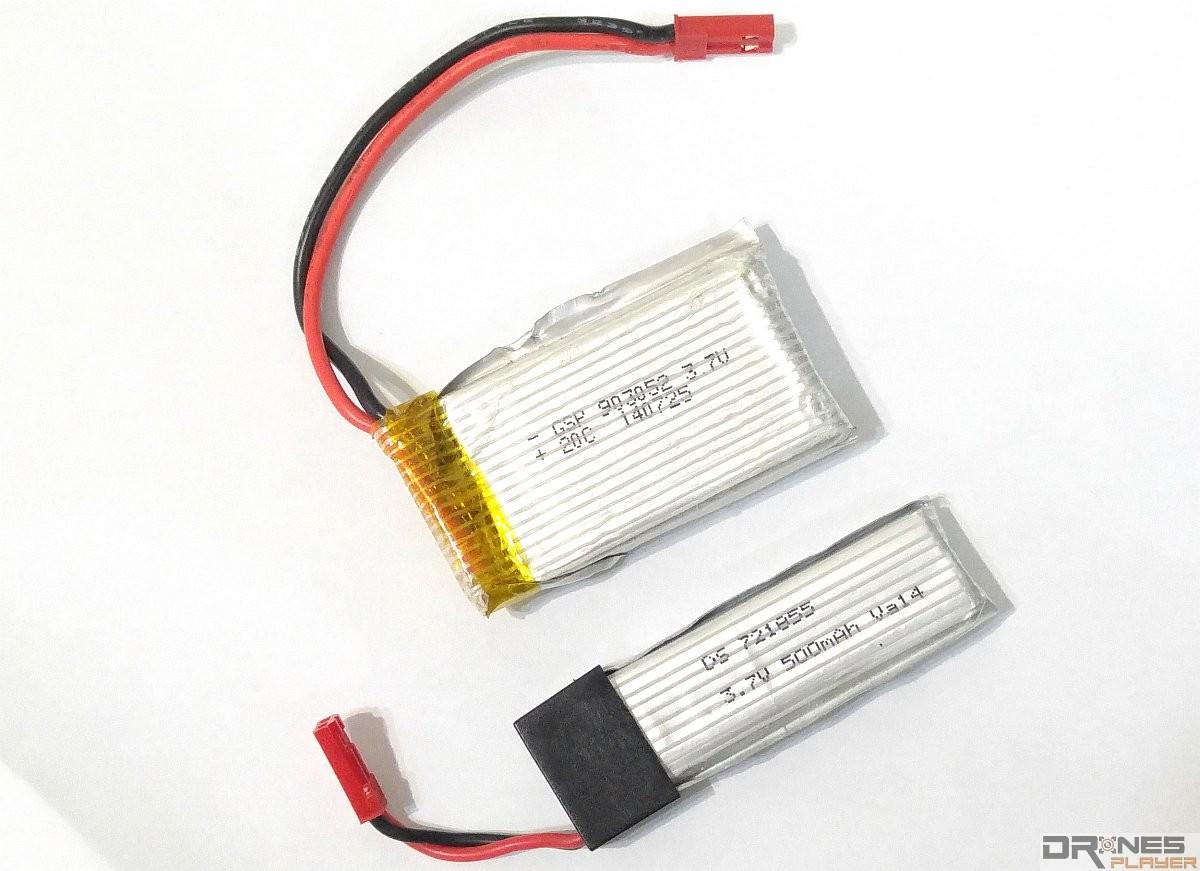 UDI RC U818A 可裝配兩枚充電池。