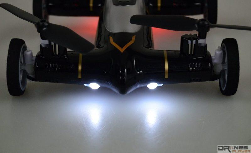 Syma X9 機首設有兩枚白色 LED 燈號,方便用家辨認機首方向。