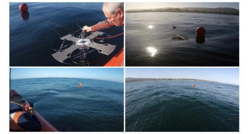 團隊在海洋實測反潛無人機 Aqua-Quad。