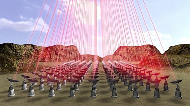 地球上設置的巨型雷射光束陣列,需產生相當於 100 間核電廠的發電量。