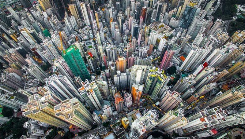 Andy Yeung 航拍作品系列《Urban Jungle》之一:灣仔。(圖片來源:Andy Yeung Photography)