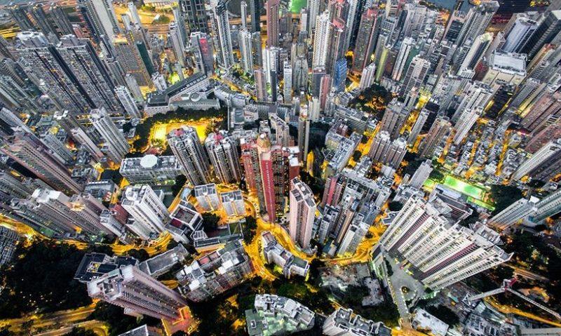 Andy Yeung 航拍作品系列《Urban Jungle》之三:上環。(圖片來源:Andy Yeung Photography)