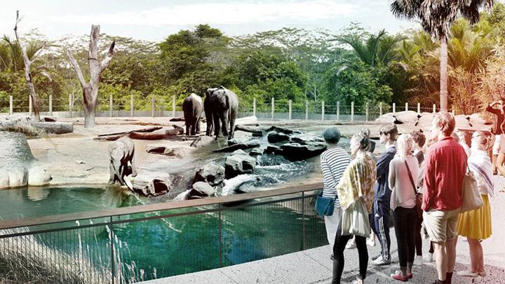 新動物園選址在悉尼西部,以高科技打造。(構想圖片)