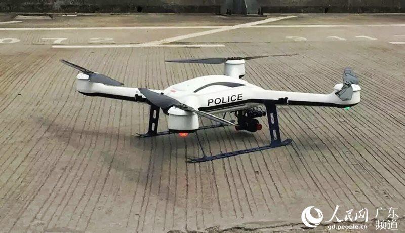 廣州交通警的「天兵」無人機