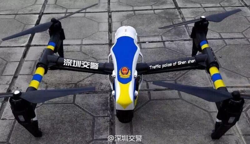深圳交通警選用的無人機是 DJI Inspire 1。