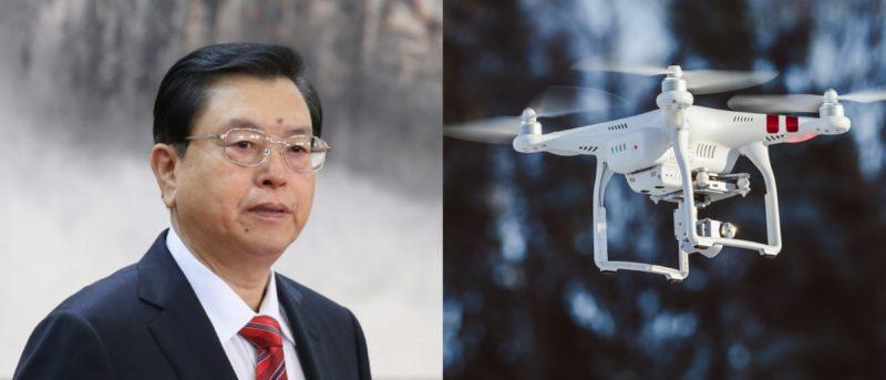 張德江 無人機 示威 香港 訪問
