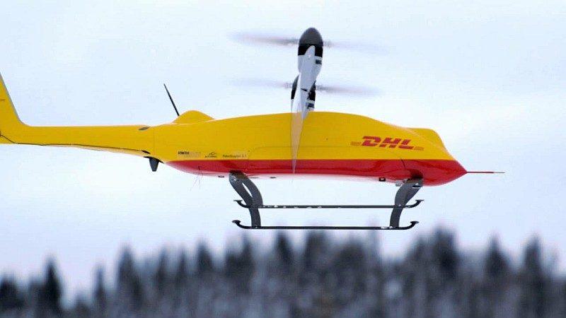 DHL Parcelcopter 3.0 送貨無人機採用雙軸兼定翼式結構。