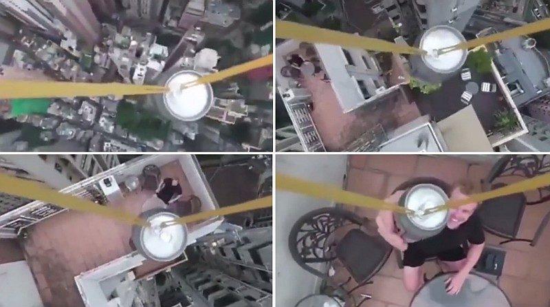 香港無人機空運罐裝啤酒被狂轟