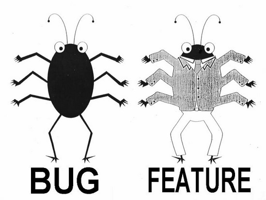 It's not a bug. It's a feature.