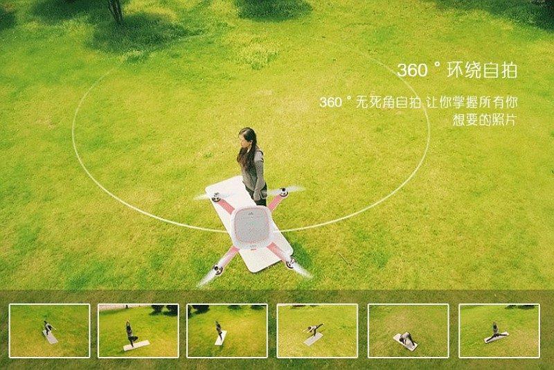 Kimon 飛行相機備有 360 度環繞自拍模式,確保自拍美圖「零死角」!