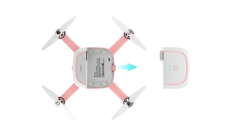 Kimon 飛行相機可供更換電池。