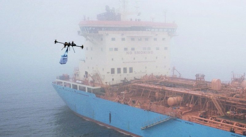 Maersk 預告進行更大型無人機送貨測試