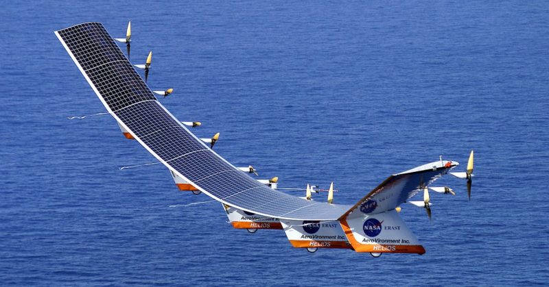 美國太空總署早在 1999 年已研發出無人機 Helios。