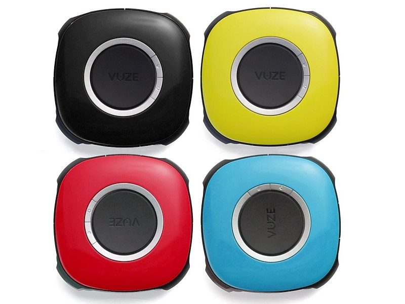 外觀吸睛相當重要,Vuze Camera 備有藍、黃、紅、黑四色版本任君選擇。