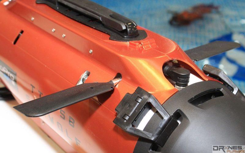 Seawolf Ocean Master 機頂具有鰭板,控制機體上升或下潛。