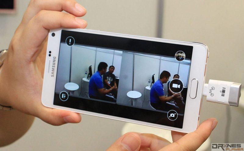 手機裝上 Eye-Plug 後,可透過專用 app 來進行 VR 攝影。