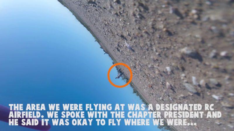 美婦發現 FPV 機墜地後,逕自拾遺而去