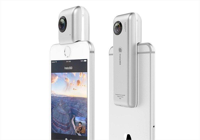 Insta360 Nano 僅重 70 克,本身厚度更只有 21 毫米,裝上 iPhone 後也不太顯得累贅。