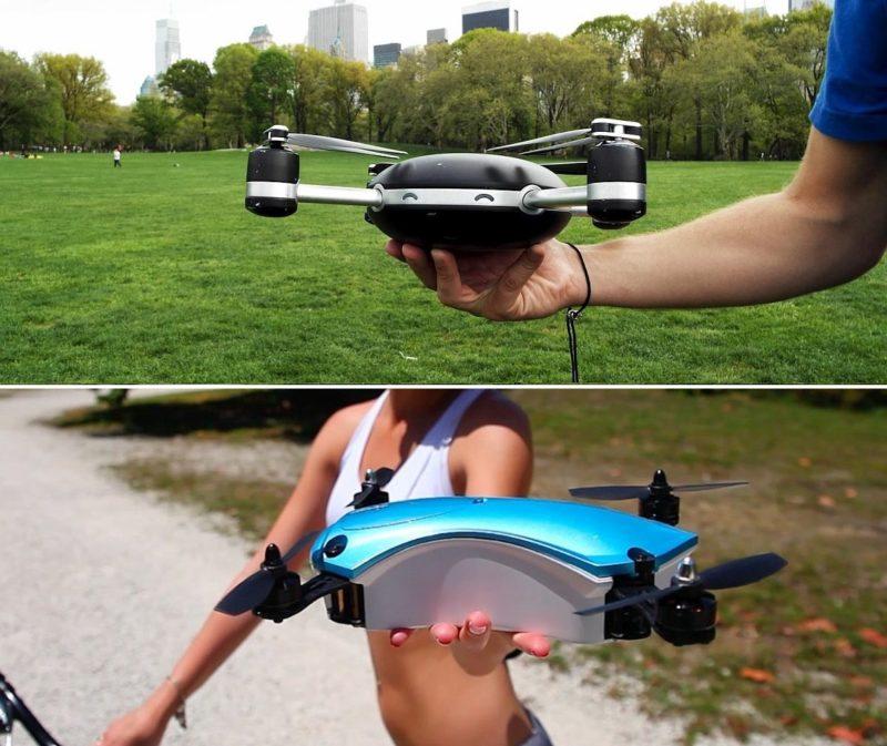 Lily Camera(上)與 UP&GO Aerial Camera(下)的機身大小相若,同屬偏大型的飛行相機。