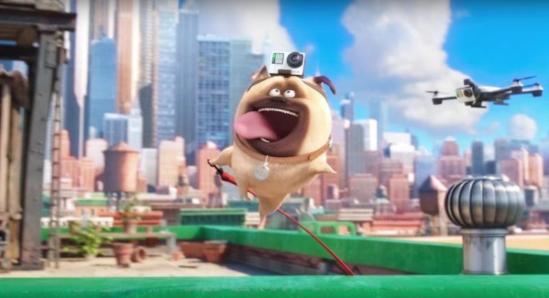 《Pet Pet 當家》(寵物當家)的預告片中出現裝上 Hero 4 的空拍機。