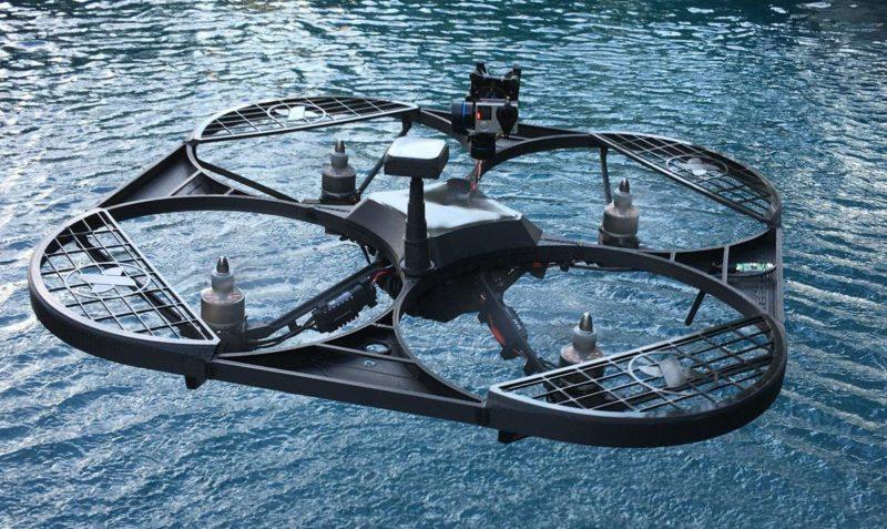Freebird One 無人機的機背上可裝設 GoPro 運動相機,進行一般 2D 航拍。