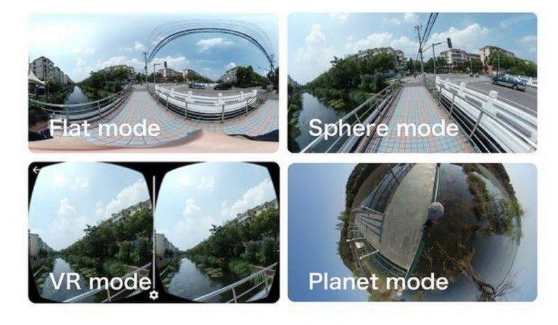 Nico360 提供多種播放模式,例如一般 360 網頁播放模式,甚至提供畫面左右分割的 VR 模式,針對 VR 眼鏡使用。