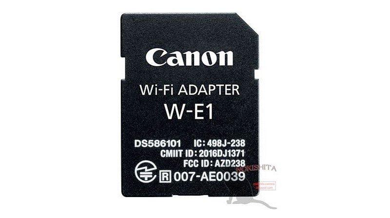 疑似是 Canon Wi-Fi 接配器「W-E1」的諜照