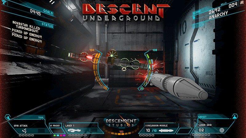 OSVR HDK 2 會捆綁兩款遊戲包括上圖的《Descent:Underground》,採用第一身射擊玩法,另外還有賽車遊戲《Radial-G:Racing Revolved》。