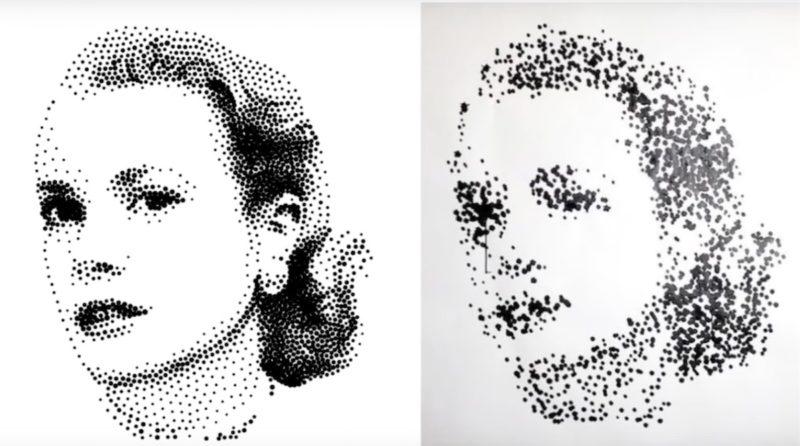 一代經典 Grace Kelly 預想圖(左)的模樣,與實際畫作(右)出入頗大。