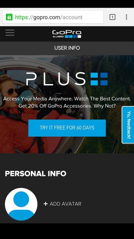 GoPro Plus 的介面。