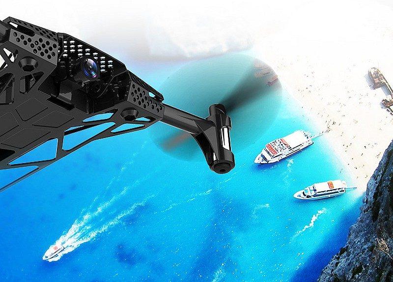 Langlong Nano 琅龍無人機的航拍相機擁有 120 度拍攝角度,而且能夠垂直調校 90 度,從高空拍攝俯瞰角度特別震撼。