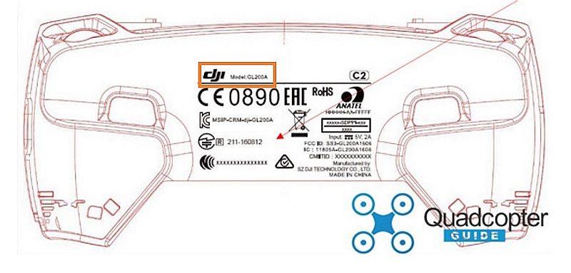 網路流出疑似是 DJI Mavic 遙控器的設計圖,可見其型號名稱為「GL200A」。