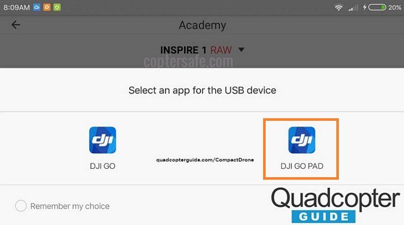 另一幅疑似是最新版本《DJI GO》的介面截圖,出現了另一個名為「DJI GO PAD」的 app 圖示,有可能是專為內置 telemetry 屏幕的遙控器而設的軟體版本