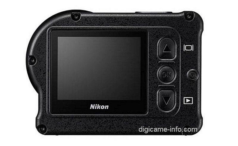 Nikon KeyMission 170 機身背面設有 1.5 吋、34 萬像素的預覽屏幕