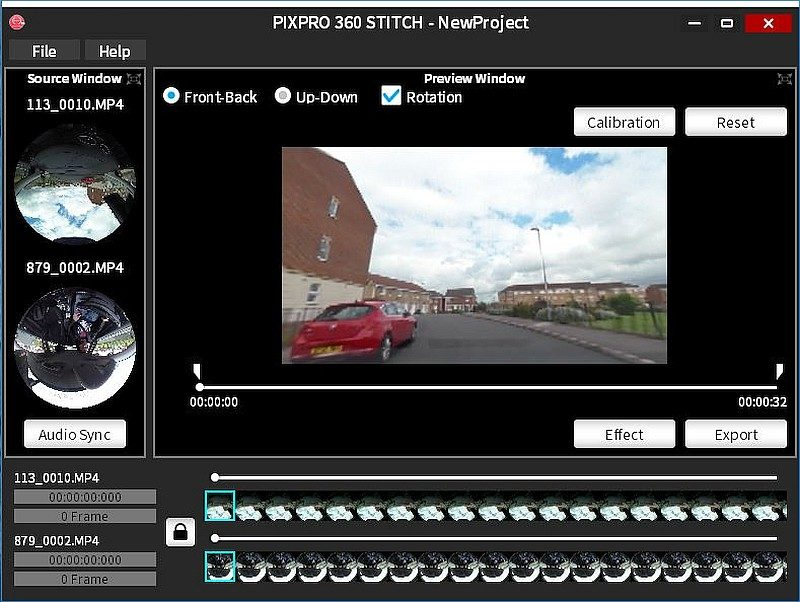空中套裝附帶《PIXPRO 360 Stitch》圖像處理軟體,可把兩段 360 度短片合而為一。