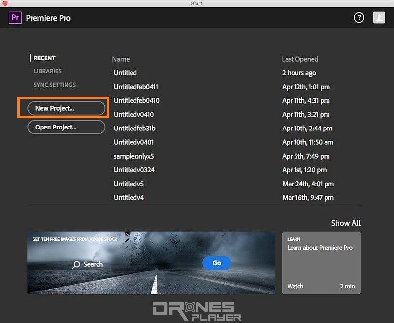 Step 01. 開啟《Adobe Premiere Pro》後,第一步當然創建新的影片專案 (New Project…)