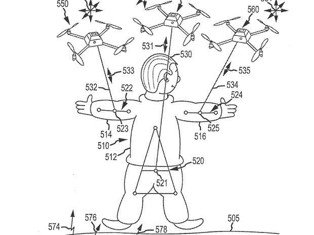 迪士尼的專利申請包括用無人機拉扯玩偶。