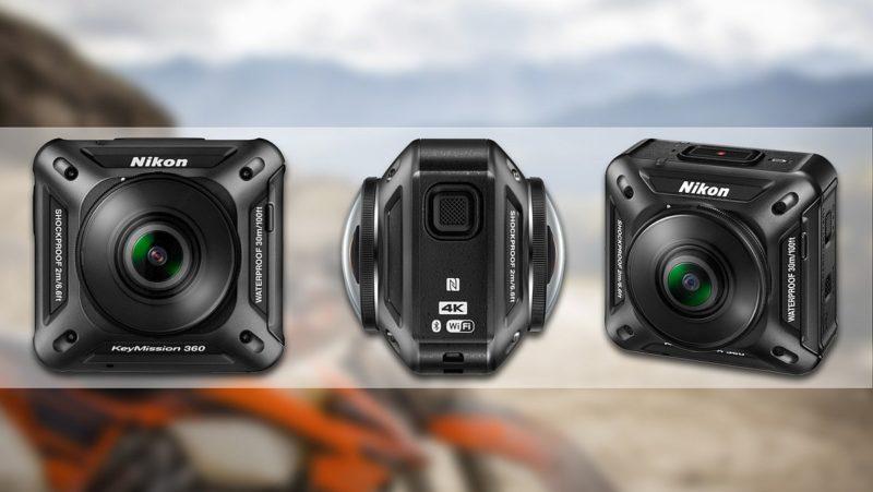 Nikon KeyMission 360是廠方進軍VR市場的首作,機身前後配置魚眼鏡頭,可攝錄 360 度的環景 4K 影像。