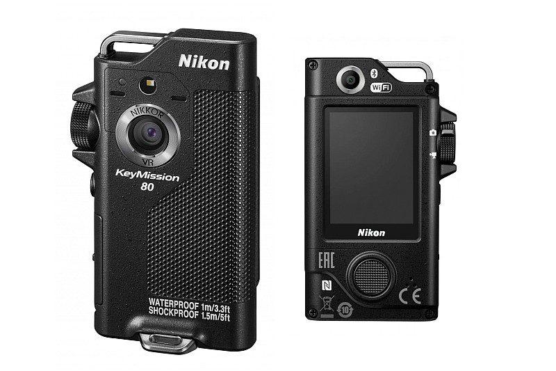 Nikon KeyMission 80 機身前方鏡頭用於一般抓拍,後方鏡頭則適用於自拍。