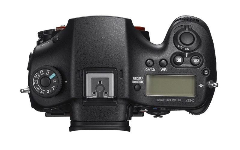 Sony A99 II 單眼反光相機的頂部介部布局