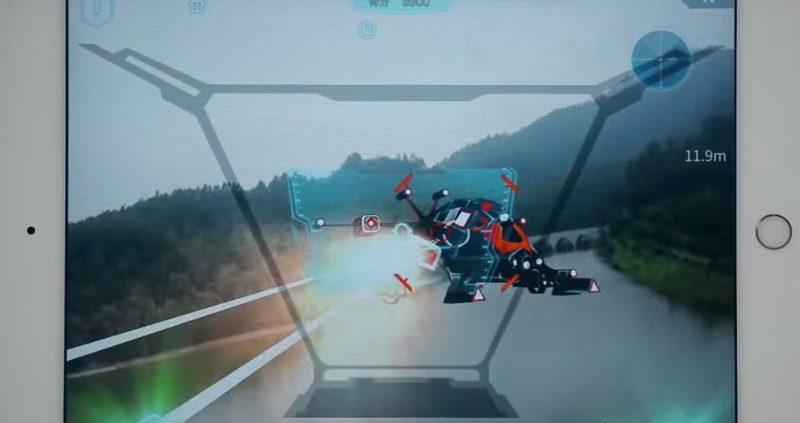 Walkera Aibao 空戰模式:玩家要操控 Aibao 無人機擊落周圍的虛擬戰機