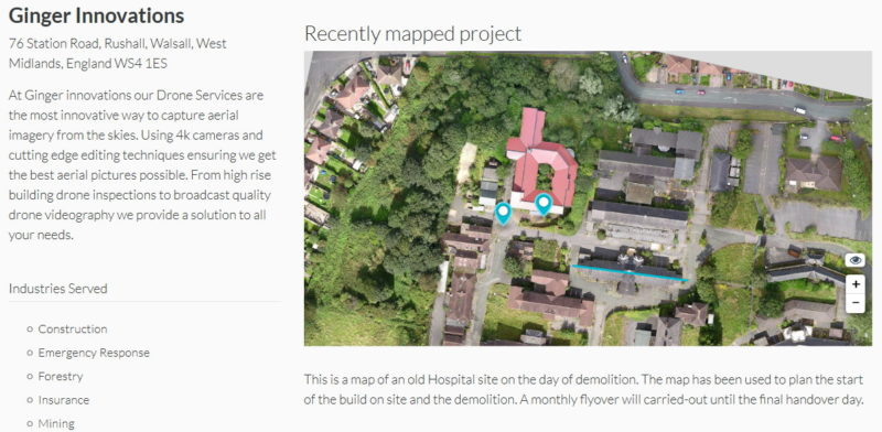 DroneDeploy Drone Mapping Directory 公司頁面