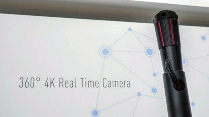 圖片中可見 PHAROS project 可接駁纜線,進行 VR 影像同步直播。