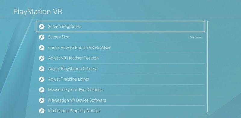 大家可在「設置」→「周邊機器」→「PlayStation VR」中,找到相關的校準選項。