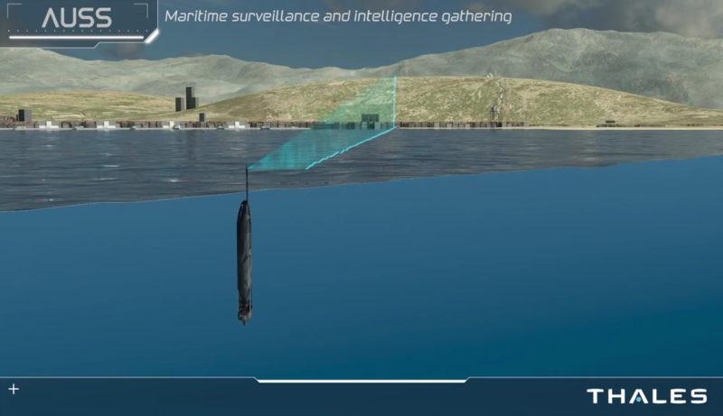Thales AUSS 水中無人機 - 水面使用